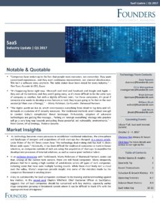 SaaS Newsletter Q1 2017 Newsletter