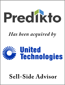 Founders Advised Predikto in Sale to United Technologies Corp.